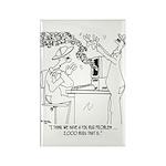 Bee Cartoon 6890 Rectangle Magnet (10 pack)