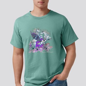 Pegasus and Unicorn purp Mens Comfort Colors Shirt