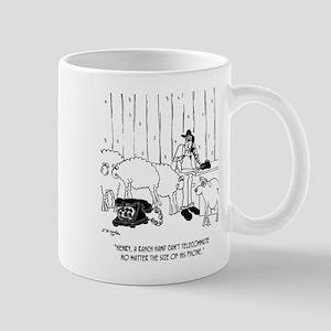 Telecommuting Cartoon 6733 11 oz Ceramic Mug