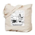 Telecommuting Cartoon 6733 Tote Bag