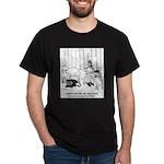Telecommuting Cartoon 6733 Dark T-Shirt