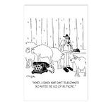 Telecommuting Cartoon 673 Postcards (Package of 8)