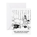 Telecommuting Cartoon 6733 Greeting Card