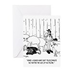 Telecommuting Cartoon 67 Greeting Cards (Pk of 20)