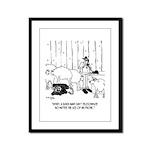Telecommuting Cartoon 6733 Framed Panel Print