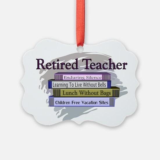 Cute Teacher retiring Ornament
