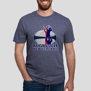 Rugby lineout throw ball ne Mens Tri-blend T-Shirt