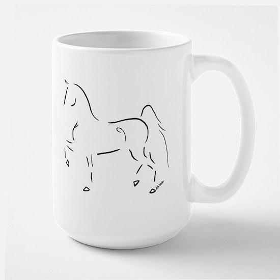 Stylized 3-Gaited American Saddlebred Large Mug