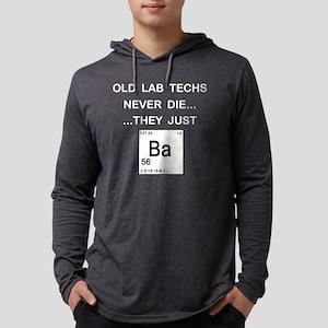 Old Lab Techs dark copy Mens Hooded Shirt