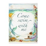 Come Swim With Me 5'x7'Area Rug