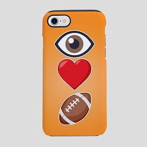 I Heart Football Emoji iPhone 7 Tough Case