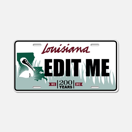 Louisiana Bicentennial Pelican license plate
