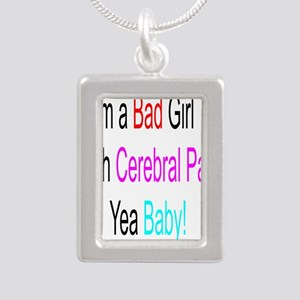 Im a Bad Girl #2 Silver Portrait Necklace