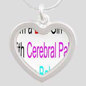 Im a Bad Girl #2 Silver Heart Necklace