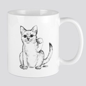 Maneki Neko Beckoning Cat Mug