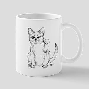 Maneki Neko Beckoning Cat Mug