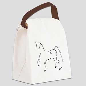 Stylized 3-Gaited American Saddlebred Canvas Lunch