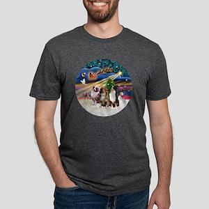 Xmas Magic - Aussie Shepher Mens Tri-blend T-Shirt