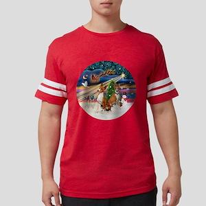 Xmas Magic - Basenjis (two).pn Mens Football Shirt