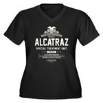 Alcatraz S.T.U. Women's Plus Size V-Neck Dark T-Sh