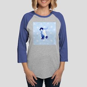 A-penguin-pale-blue-01 Womens Baseball Tee