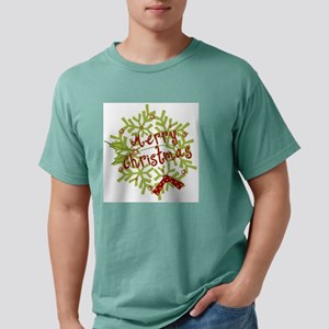 merry christmas wreath.p Mens Comfort Colors Shirt