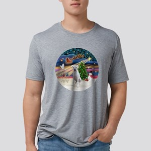 Xmas Magic - Boxer (white). Mens Tri-blend T-Shirt