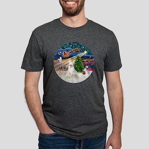 Xmas Magic - Bull Terrier 4 Mens Tri-blend T-Shirt