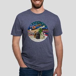 Xmas Magic - Cocker Spaniel Mens Tri-blend T-Shirt