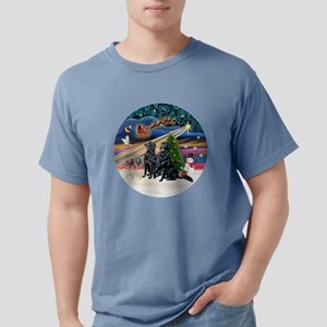 Xmas Magic - Flat Coated Mens Comfort Colors Shirt
