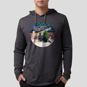 Xmas Magic - Flat Coated Retvrs  Mens Hooded Shirt