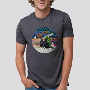 Xmas Magic - Flat Coated Re Mens Tri-blend T-Shirt