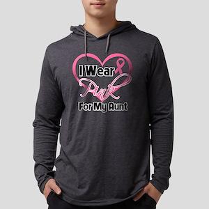 I Wear Pink Heart Ribbon Breast  Mens Hooded Shirt
