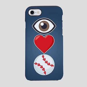 I Heart Baseball Emoji iPhone 7 Tough Case