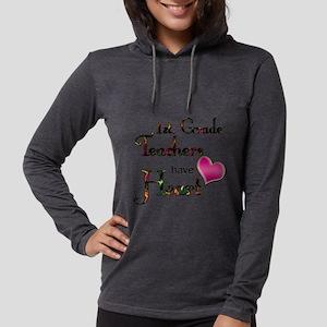 Teachers Have Heart 1 Womens Hooded Shirt