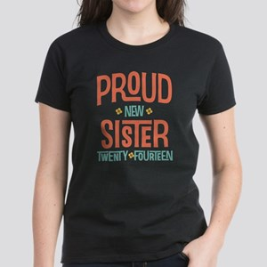 Proud New Sister 2014 Women's Dark T-Shirt