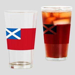 Flag - Scottish Navy Drinking Glass