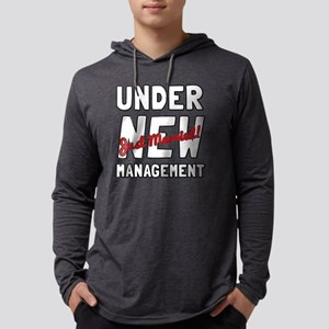 Under New Management Mens Hooded Shirt