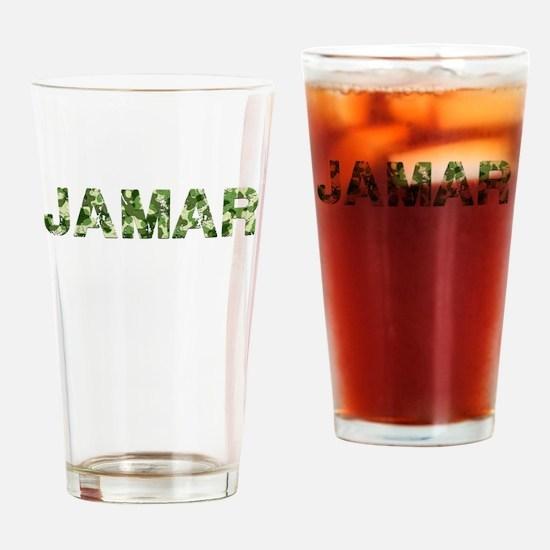 Jamar, Vintage Camo, Drinking Glass
