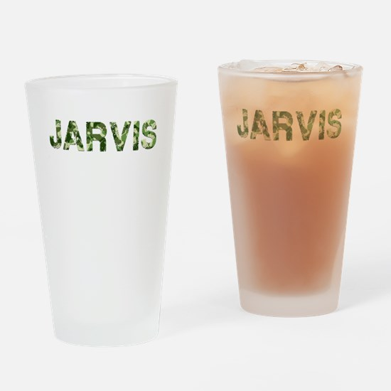 Jarvis, Vintage Camo, Drinking Glass
