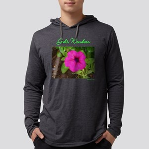 gods-wonders-pink-flower-black.p Mens Hooded Shirt