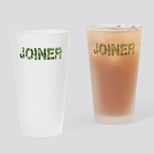 Joiner, Vintage Camo, Drinking Glass