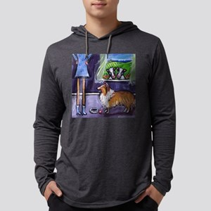sheltiefood Mens Hooded Shirt