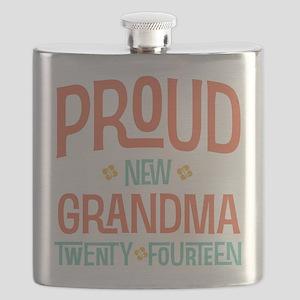 Proud New Grandma 2014 Flask