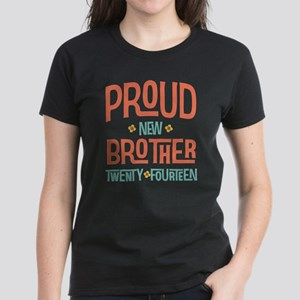 Proud New Brother 2014 Women's Dark T-Shirt