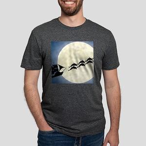Santa Pirate Ship Mens Tri-blend T-Shirt