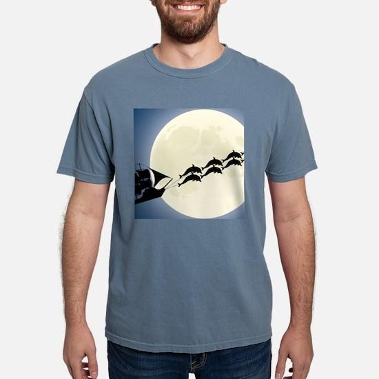Santa Pirate Ship Mens Comfort Colors Shirt