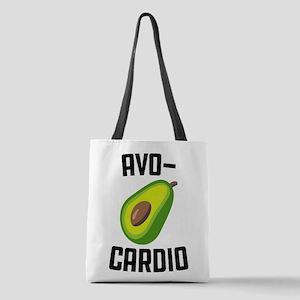Avo-Cardio Avocado Emoji Polyester Tote Bag