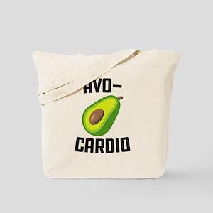 Avo-Cardio Avocado Emoji Tote Bag