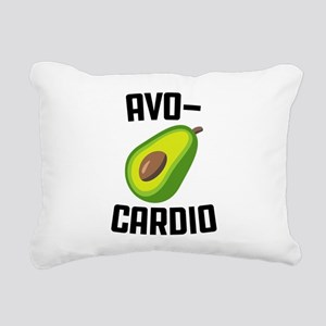 Avo-Cardio Avocado Emoji Rectangular Canvas Pillow